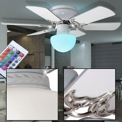 RGB LED Ceiling Vent Colour changing Lamp Heater Fan Dimmer Remote control