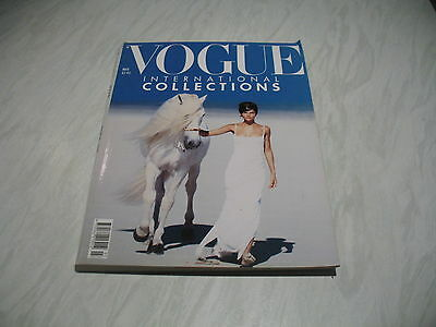 Vogue magazine # 1990 March UK issue Helena Christensen cover by Peter Lindbergh