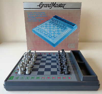 Vintage 1980's CGL Grand Master Sensory 2 Electronic Chess Computer Set Boxed