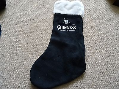 Vintage Guinness Draught 15 Inch Long Christmas Stocking,  Excellent Condition