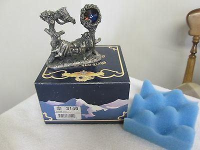 Tudor Mint 3149 Signed Mark Locker Pewter Snoozing Wizard Vgc Boxed