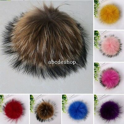 13cm Large Raccoon Fur Ball PomPom Doll Bag Charm Key Chain Car Ring Clothes