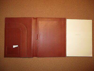 "NWT $300+ Ralph Lauren Purple Label Leather Writing Document Pad Large 10""x12"""