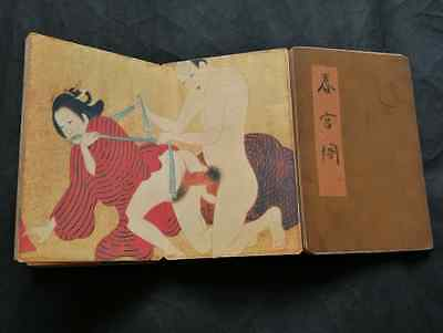 Pornography paper cloth Paint Erotic lust Exquisite Japanese Body Art old book