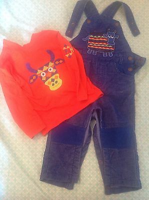 Boys Cord Dungarees DPAM French Designer 18 Months