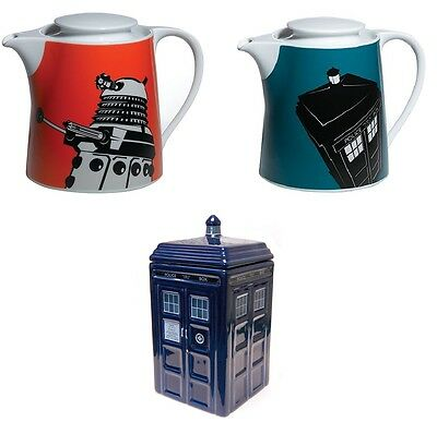 Doctor Who Kitchenware Teapot Cookie Biscuit Jar Dalek Tardis Funky Cool Gift