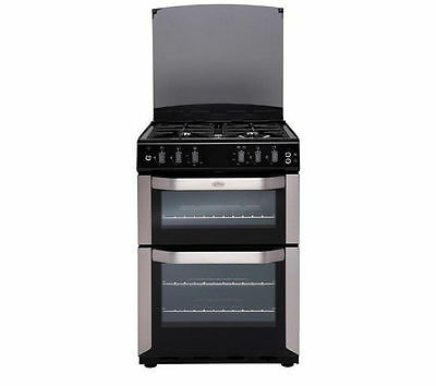 Brand New Belling FSDF60DOW 60cm Double Dual Fuel Cooker Black /Stainless Steel
