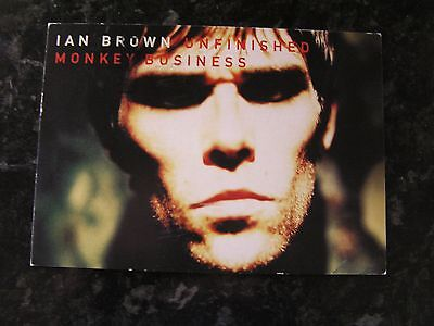 Ian Brown Promo Postcard, Unfinished Monkey Business 02.02.98