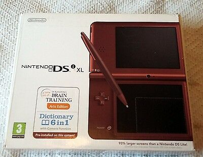NINTENDO DSi XL REPLACEMENT BOX & INSERTS - NO CONSOLE INCLUDED