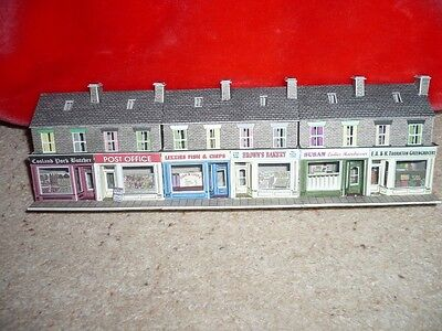 Metcalfe Low Relief Row of Shops (N gauge)