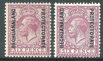 Bechuanaland 1925 reddish-purple 6d purple 6d block cypher mint SG96/97