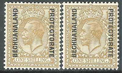 Bechuanaland 1913/15 bistre 1/- bistre-brown 1/- simple cypher mint SG82/82a