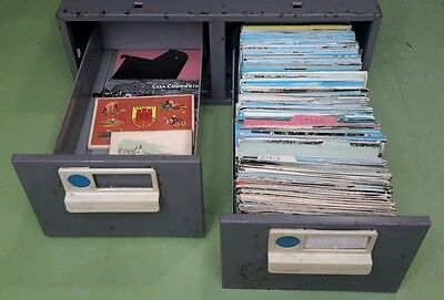 Postcard collection European topo mid 1900's approx 700 includes box