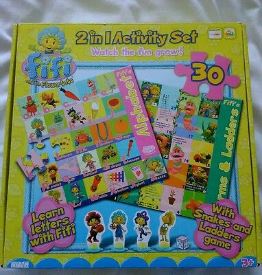 Fifi and the flowertots snakes & ladders game and jigsaw puzzle