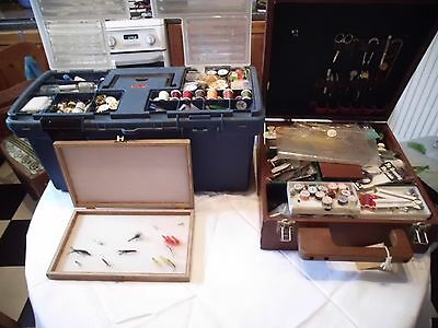 Fly tying kit -job lot feathers capes tools hooks