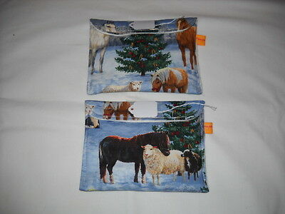 Breyer stablemate custom model horse transport fabric pouch pocket