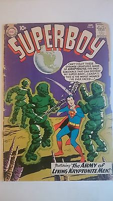 """Superboy # 86   Fr/gd  """"the Army Of Living Kryptonite Men""""  Cents  1961"""