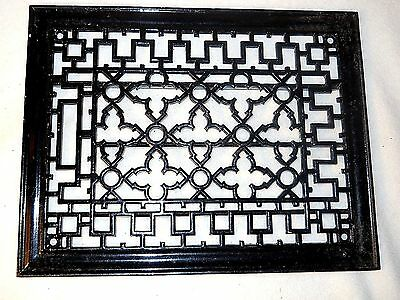 "Antique Cast Iron Floor Grate-Black Vent Cover-10 3/4"" by 13""-Decorative Grate"