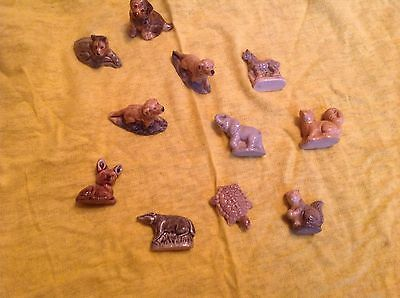 Lot Of 11Mixed wade Whimsies Animal figures