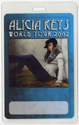 Alicia Keys authentic 2002 tour Laminated Backstage Pass
