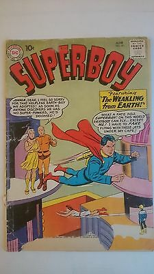 """Superboy # 81   Fair  """"the Weakling From Earth""""  Cents  1960"""
