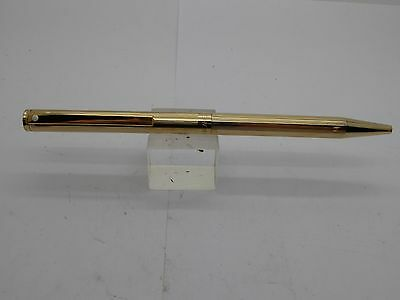 SHEAFFER  Agio Gold Plated Lined Pattern Ballpoint Pen with refills