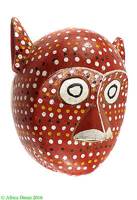 Bozo Mask Red Spotted with Ears Mali African Art