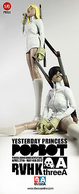 RVHK Yesterday Princess 2 SET BLONDE & BLACK HAIR 1/6 Popbot 3A Ashley Wood