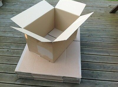 20 x Large Double Walled Strong Cardboard Boxes Storage House Moving