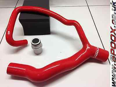 Peugeot 306 Gti-6 & Rallye Silicone Top Radiator Hose & Alloy Adaptor RED