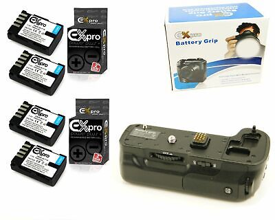 Ex-Pro Power Grip DMW-BGGH3 for P@ L@ DMW-GH4 & 4x DMW-BLF19E Battery