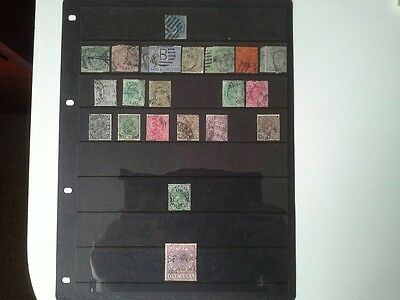 India - Selection of Used Stamps Issued Between 1855 and 1932