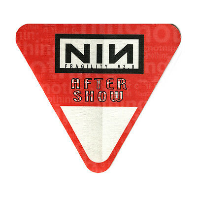 Nine Inch Nails authentic Aftershow 1999-2000 tour Backstage Pass