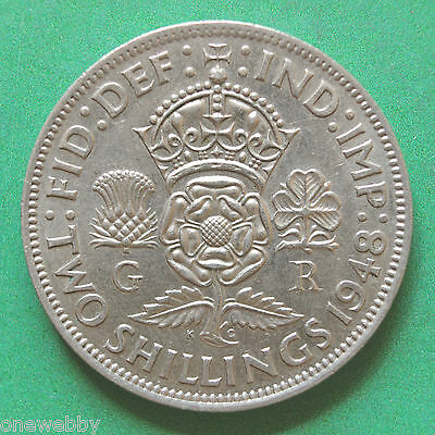 1948 George VI Florin / Two Shillings SNo31473