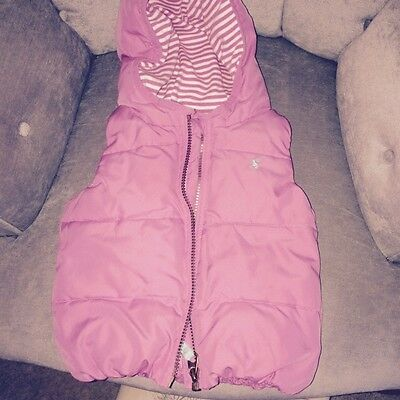 Girls Joules Pink Gilet / Body Warmer Age 18 / 24 Months