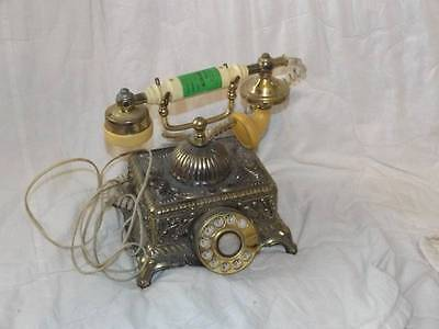 ONYX Telephone Center Co. Vintage Antique Rotary Phone Gold TONED