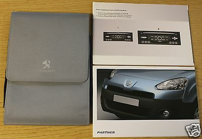 Peugeot Partner Owners Manual Handbook Wallet 2012-2015 Pack