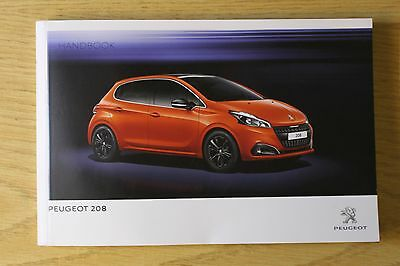 Genuine Peugeot 208 Owners Manual Handbook 2012-2016 Book