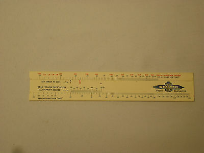 Vintage 1930's Frigidaire Profit Calculator Slide Rule