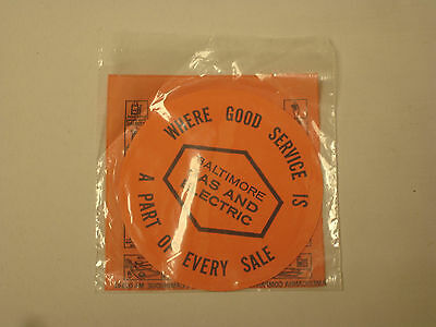 Vintage Baltimore Gas And Electric Magic Grip Disc