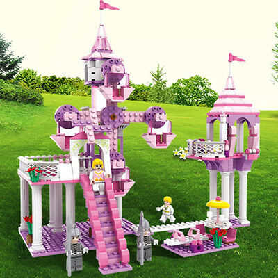 3-6 Years Old Girl Castle Princess Building Blocks Educational Toy Set Gifts