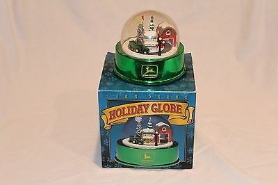 John Deere Holiday Globe ERTL Collectibles Lightup/Motorized with original packa