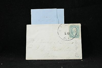 Confederate: Aiken, South Carolina CDS 10c (Huge Margins) 1863 Cover + Letter