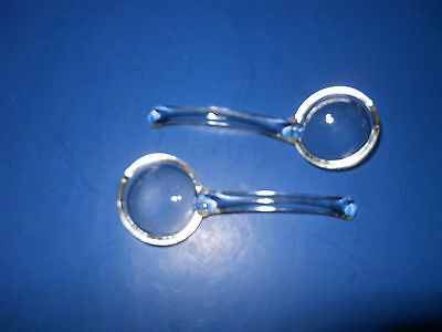 Crushed Fruit/Marmalade/Jelly/Dressing - Set of 2 Spoons - Clear Glass
