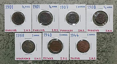 Princely Indian States - collection of cool coins - Anna, Pice, Dodko