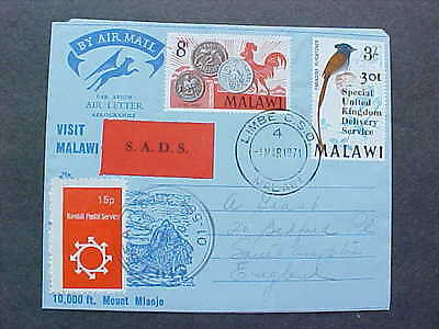 Malawi: Limbe C.S.O. 1971 Cover to GB, Special United Kingdom Delivery Service