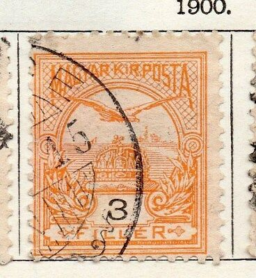 Hungary 1900 Early Issue Fine Used 3f. 098743