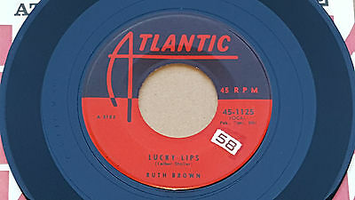 """RUTH BROWN Lucky Lips RARE 1957 US R&B 7"""" gem Atlantic 1023 EXCELLENT!"""