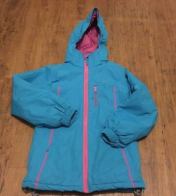 TRESPASS KIDS GIRLS Waterproof Winter JACKET/ COAT WITh HOOD AGE 7- 8 YEARS