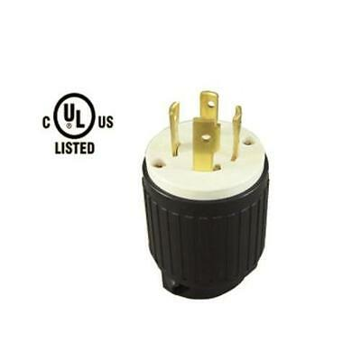 NEMA L14-30 Male Plug Grounding 30A 125/250V 3 Pole 4 Wire Twist Locking UL USA
